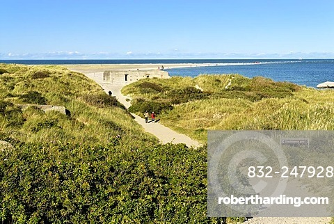 Grenen, the most northern point of Denmark, left side North Sea, right side Baltic Sea, Jutland, Denmark, Europe