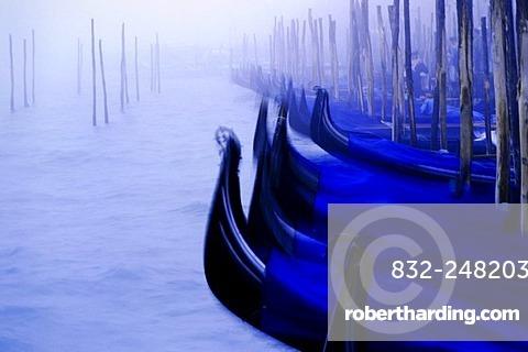 Boats in the canal, Venice, Venetia, Italy, Europe