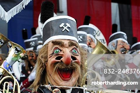 Oschtalb Ruassgugga Aalen Ostalbkreis band, 26. International Guggenmusiktreffen, Guggenmusik folk music festival, 14th and 15th of February 2009, Schwaebisch Gmuend, Baden-Wuerttemberg, Germany, Europe