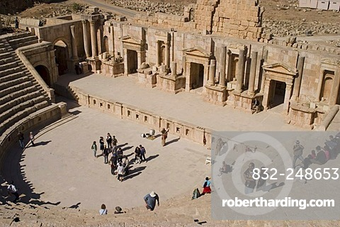 North Theatre, Jerash, Jordan, Southwest Asia