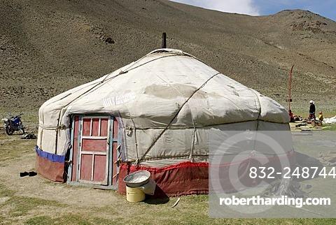 Nomadic yurt, Altai, Kazakhstan, Aimak Bayan Ulgi, Mongolia, Asia