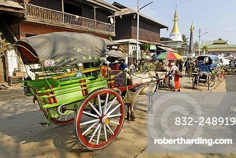 Cart used as a taxi, Kachin State, Burma, Myanmar, Asia