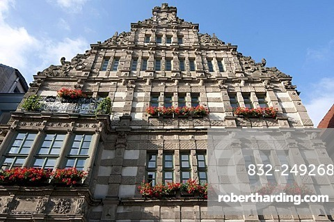 Pied Piper's House, Weser Renaissance style, Hameln, Weserbergland, Lower Saxony, Germany, Europe