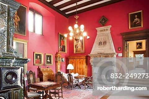 Interior, Haemelschenburg Castle, Weser Renaissance style, Weserbergland, Lower Saxony, Germany, Europe