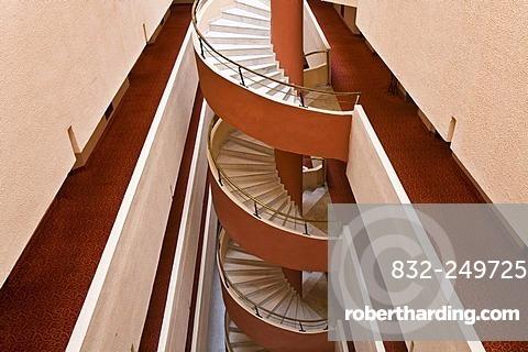Spiral staircase in the Selge Beach Resort, Turkish Riviera, Turkey, Asia