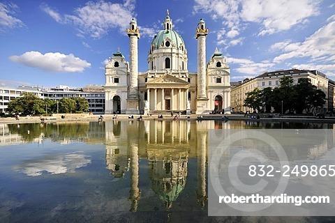 St. Charles's Church, Karlskirche, Vienna, Austria, Europe