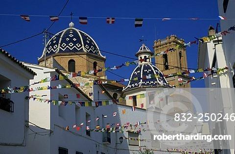 Dome of the Iglesia de Nuestra Senora del Consuelo Church, Costa Blanca, Spain, Europe