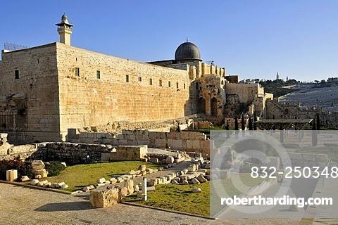 Al-Aksa Mosque on the temple mountain, Jerusalem, Israel, Near East, Orient
