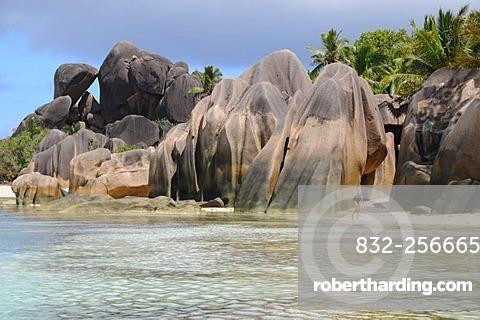Granite rock, Anse Source D'Argent, La Digue, Seychelles