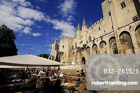 The Popes' Palace in Avignon, Provence, France, Europe
