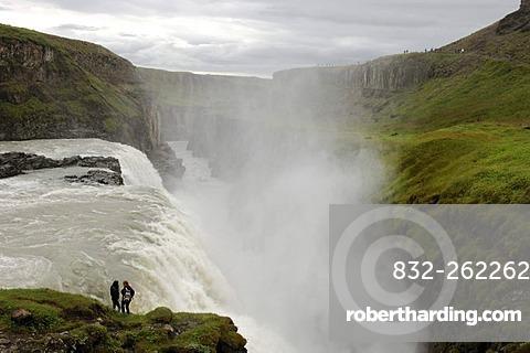 Gullfoss, The Golden Waterfall, Iceland, Europe