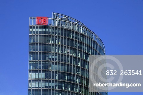 BahnTower high-rise building, owned by the German national railway company Deutsche Bahn, Potsdamer Platz, Potsdam Square, Berlin, Germany, Europe