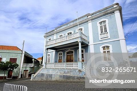 Townhall, colonial house, Sao Filipe, Fogo Island, Cape Verde Islands, Africa