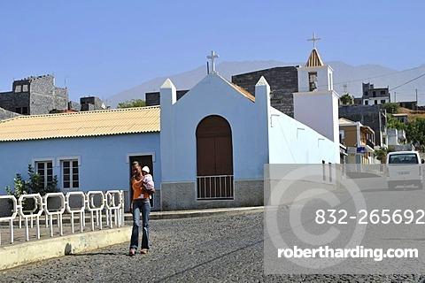 Church, Sao Filipe, Fogo Island, Cape Verde Islands, Africa