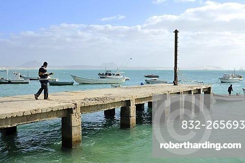 Jetty, Sal Rei, Boa Vista Island, Republic of Cape Verde, Africa