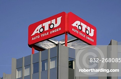 Headquarters, head office, car repair shop chain ATU, Auto-Teile-Unger, Weiden, Bavaria, Germany, Europe