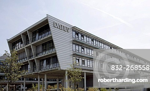 Headquarters of DATEV eG, data processing center for tax accountants, financial auditors, lawyers and companies in Nuremberg, Bavaria, Germany, Europe