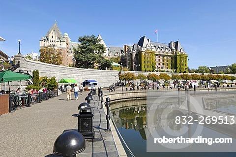 Harbor in front of the Empress Hotel, Victoria, Vancouver Island, British Columbia, Canada