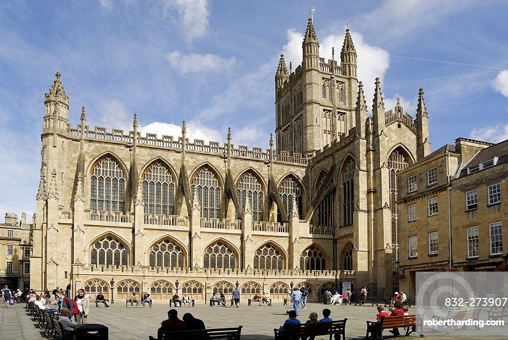 Bath Abbey, Bath, Wessex, England, UK