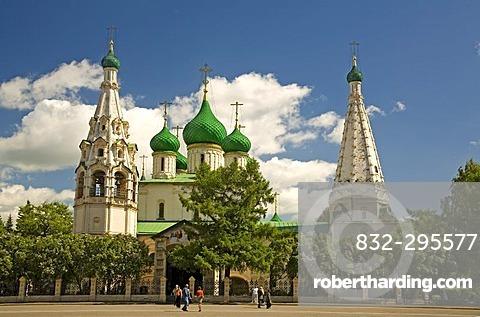 Sovetskaja Place, Church of Elijah the Prophet, Yaroslavl, Russia