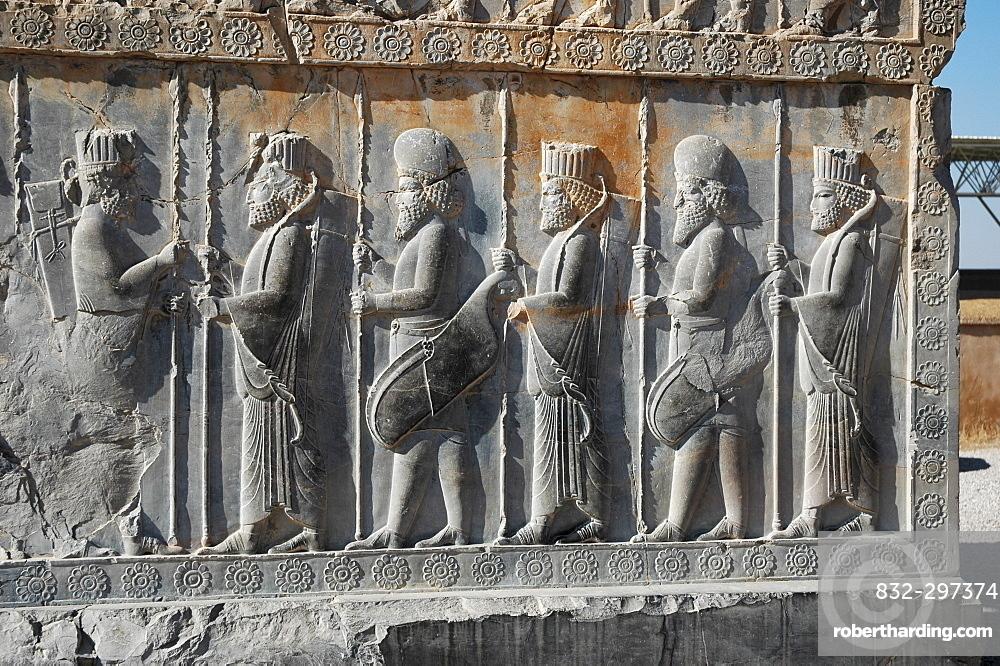 Relief Persepolis Iran Stock Photo