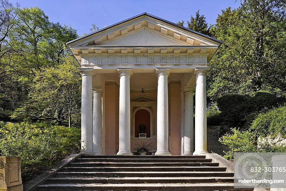 Mozart Temple in the spa park in Baden, Lower Austria, Austria, Europe