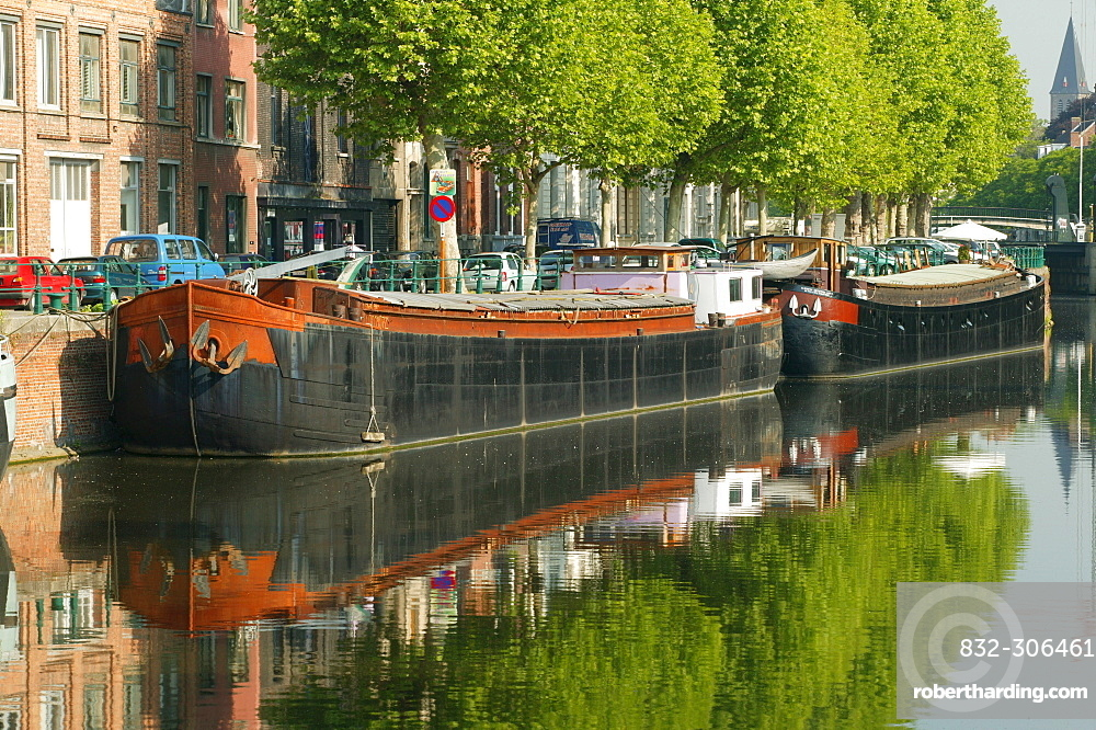 Canals, Ghent, East Flanders, Belgium, Europe