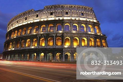 ITA, Italy, Rome : Colosseum, big ancient amphitheatre at the Via dei Fori Imperiali.  
