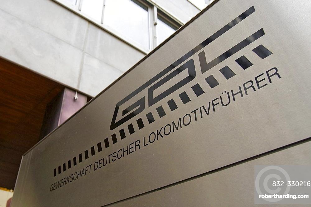 Headquarters of the German Train Drivers Union (Gewerkschaft Deutscher Lokomotivfuehrer or GDL), Frankfurt, Hesse, Germany, Europe