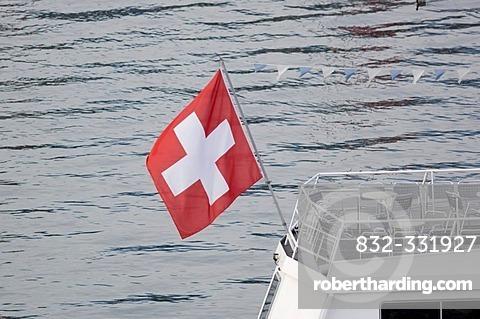Swiss flag, Lucerne, Switzerland
