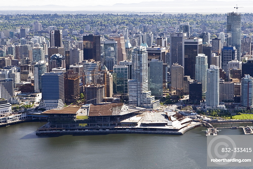 Vancouver Convention Center, Shaw Tower, Harbour Green, Vancouver, British Columbia, Canada, North America