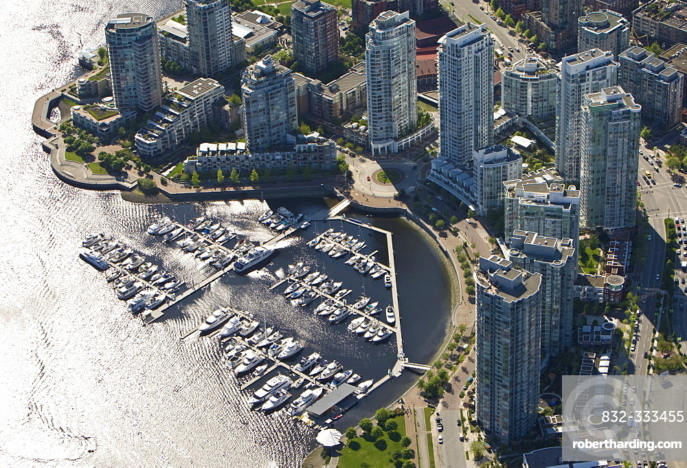 Marina at North False Creek, Vancouver, British Columbia, Canada, North America