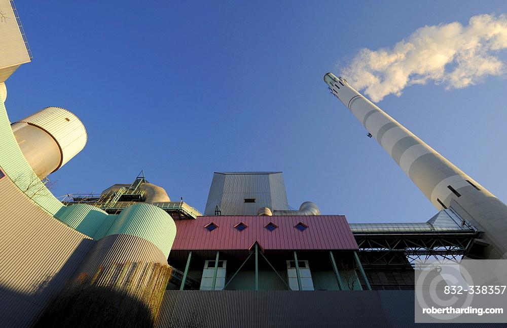 EnBW power and incineration plant in Stuttgart-Muenster, Stuttgart, Baden-Wuerttemberg, Germany