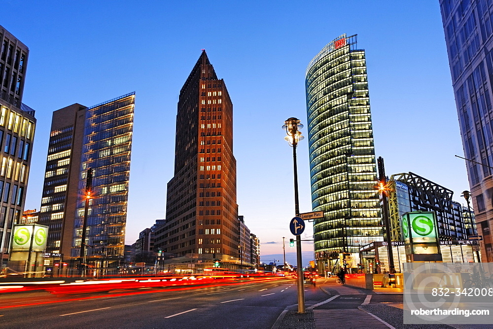 Skyscrapers on Potsdamer Platz Square, Berlin, Germany, Europe