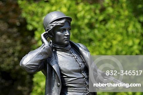 Statue in the Kaiserpark of Bad Ischl, Salzkammergut, Austria