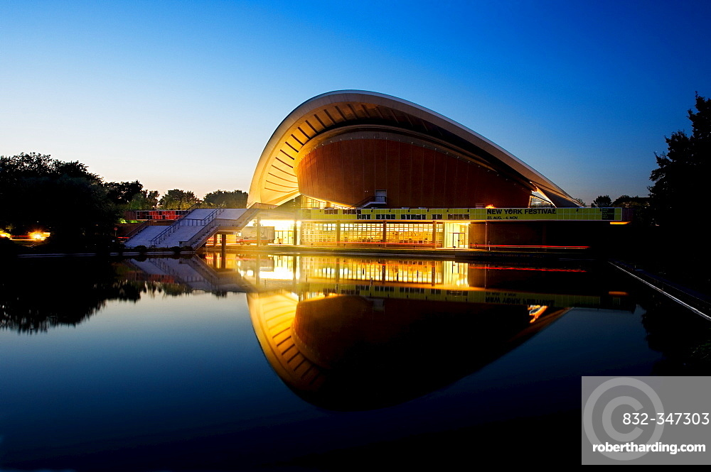 In the evening, house of the cultures of the world, Berlin, Germany