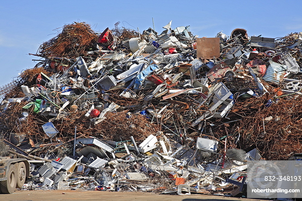 Scrap yard for recycling of metals