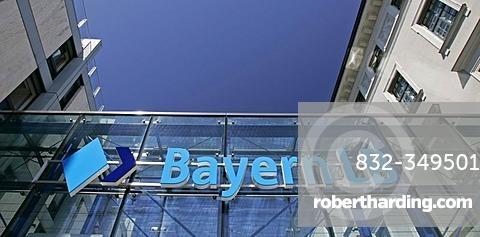 Munich, GER, 01. Jun. 2005 - Logo of Bayerische Landesbank (Bayern LB) at building in Brienner Str. in Munich