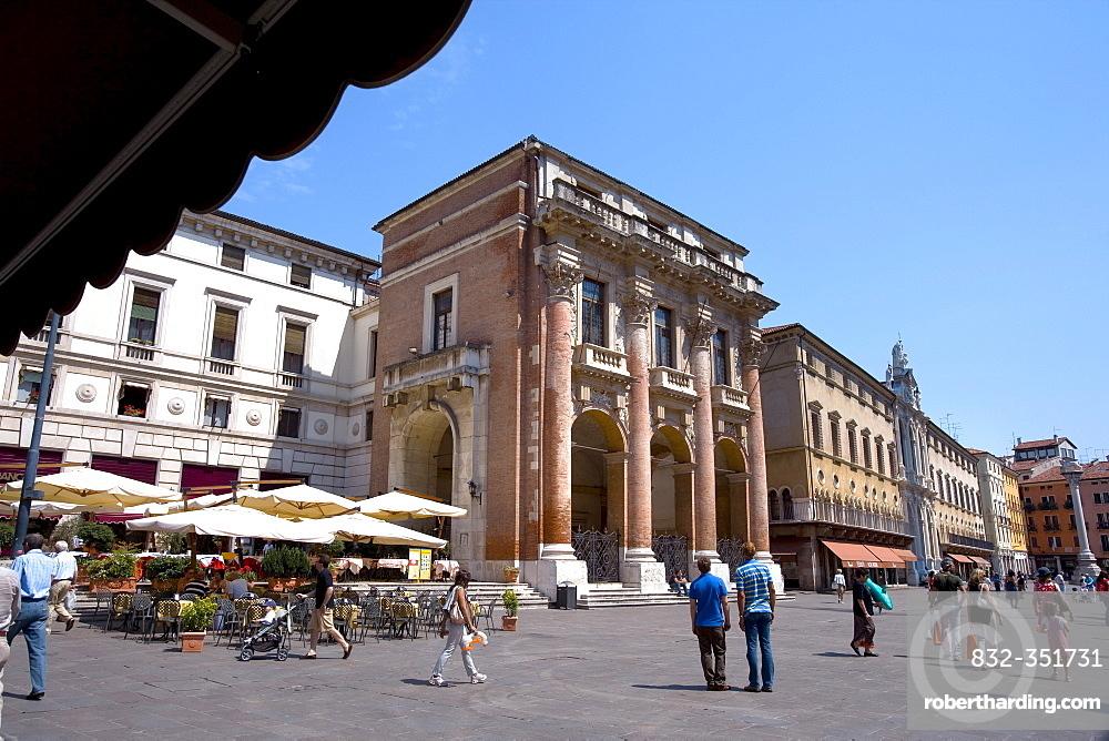 Loggia Capitano, Piazza dei Signori Square, Vicenza, Veneto, Italy, Europe