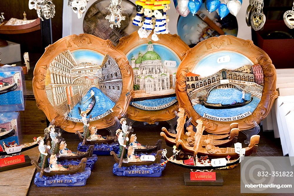 Venice-souvenirs in a shop, Venice, Veneto, Italy, Europe