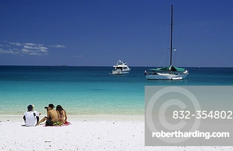 Whitehaven Beach on Whitsunday Island near Hamilton Island, Whitsunday Islands, Queensland