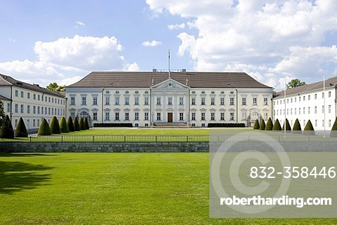 Castle Bellevue, domicile of the Federal President, Berlin, Germany