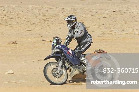 Bike at a rallye in desert