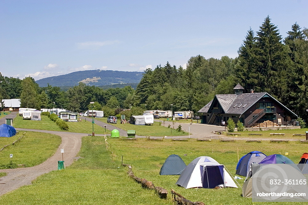 Camping ground Sedmihorky, Boehmisches Paradies, Cesky Ray, Czech Republic