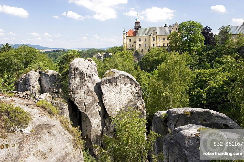 Castle Hruba Skala, Boehmisches Paradies, Cesky Ray, Czech Republic