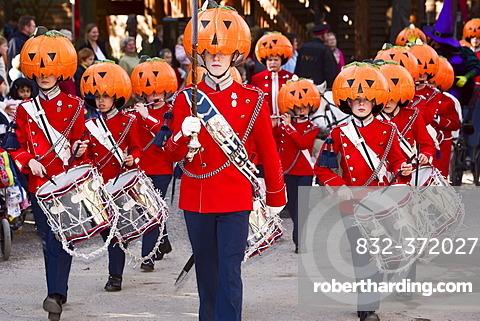 Halloween decorated music guards in Tivoli, Copenhagen, Denmark
