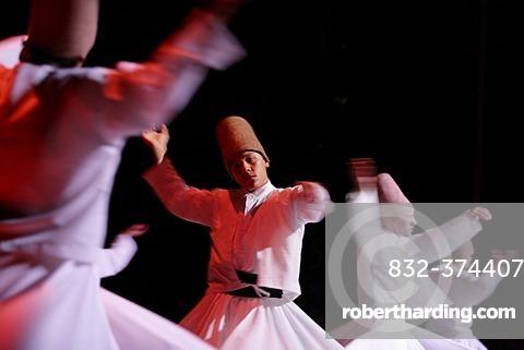 Dancing dervishs, oriental meditatin dance