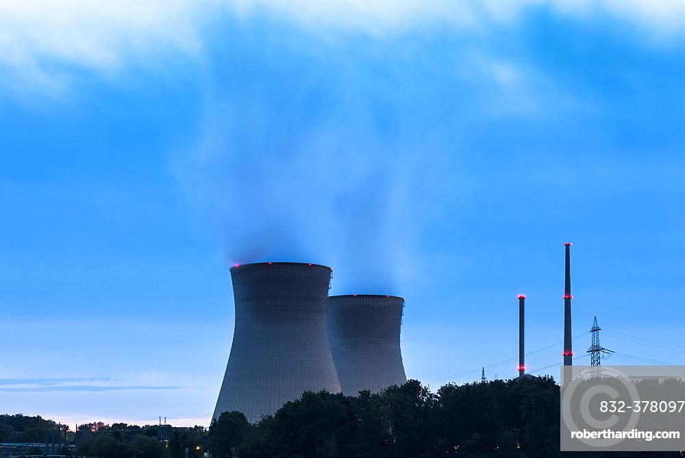 Gundremmingen Nuclear Power Plant, Grundremmingen, Swabia, Bavaria, Germany, Europe