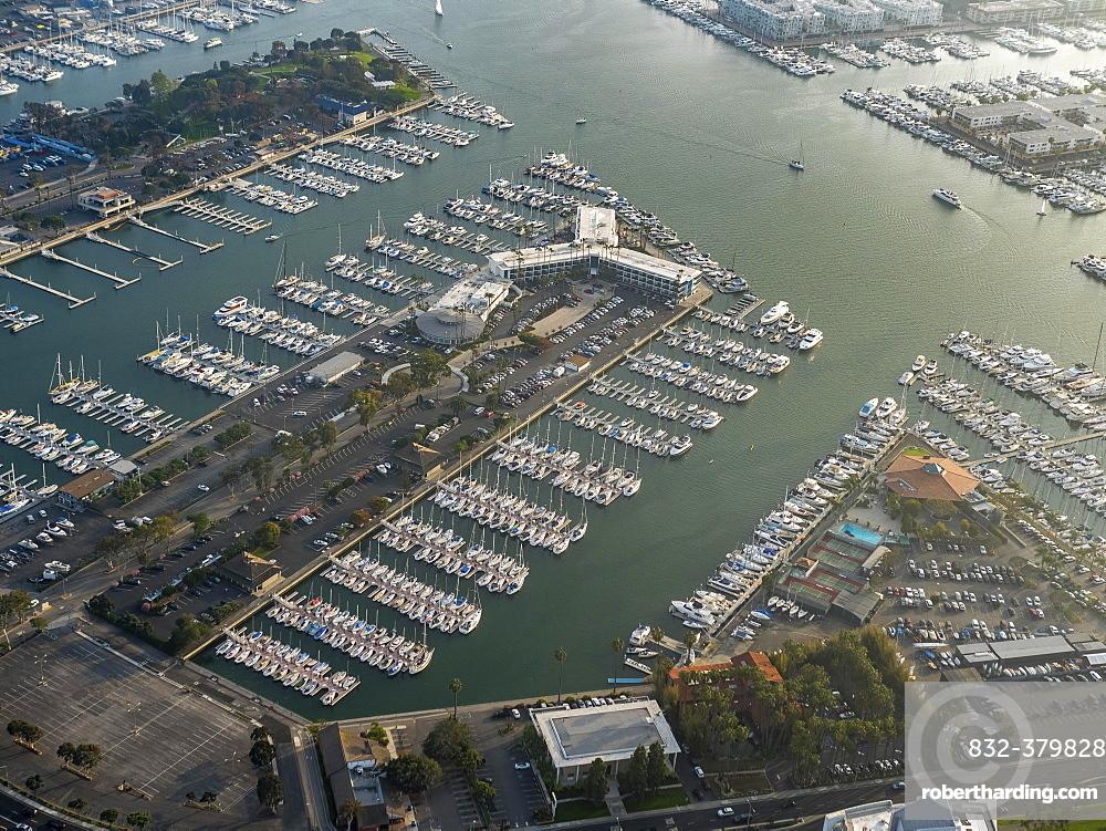 Marina Venice Yacht Club, marina, motor boats, sailboats, Admiralty Way, Marina del Rey, Los Angeles County, California, USA, North America