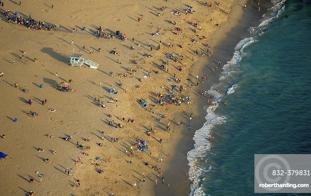 Santa Monica Beach, sandy beach, Marina del Rey, Los Angeles County, California, USA, North America